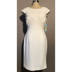 Antonio Melani Holiday Glow Off White Dress 8 NEW